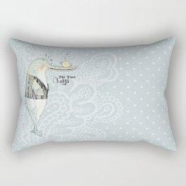 The Duet - Baiji I Rectangular Pillow