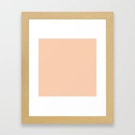 Apricot Pink Solid Color Framed Art Print