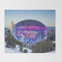 Inverted Winter Throw Blanket