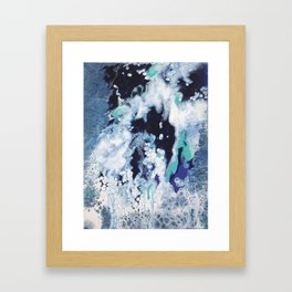 Carefree Blue Abstract Framed Art Print