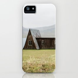 House in front of the lake iPhone Case