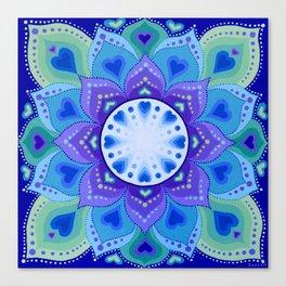 White Light Within Mandala Canvas Print