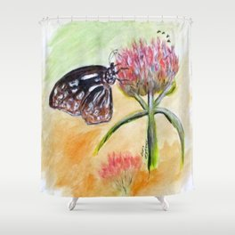 Erika Butterfly Two Shower Curtain