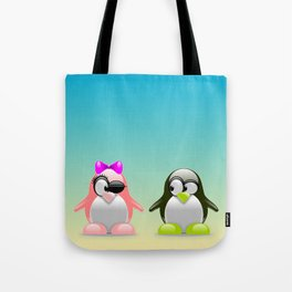 two little penguins Tote Bag