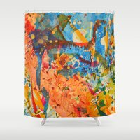 kandinsky Shower Curtains featuring Harvest by j.Webster