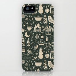 Winter Nights: Forest iPhone Case