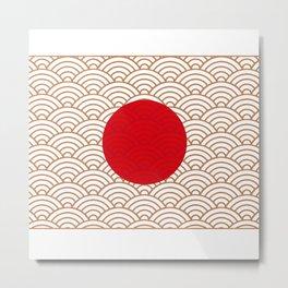 Ornamented Japanese Flag Metal Print