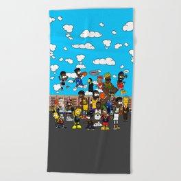 Finals  Bootleg B-ART Mural Beach Towel
