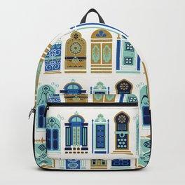 Moroccan Doors – Blue & Gold Palette Backpack