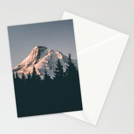 First Light on Mount Hood Stationery Cards