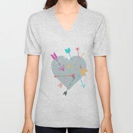 Arrow Heart Unisex V-Neck