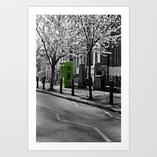 Phone Boxes gone green  Art Print