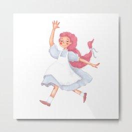 Little pink girl Metal Print