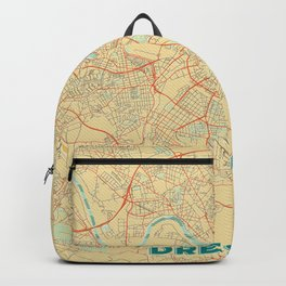 Dresden Map Retro Backpack