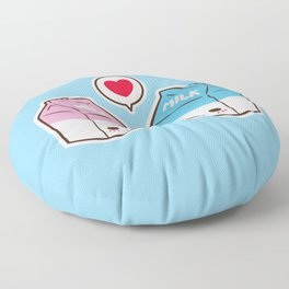 Milks in love Floor Pillow