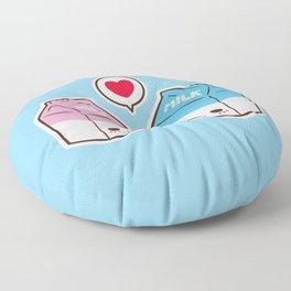 Milks in love Floor Pillow