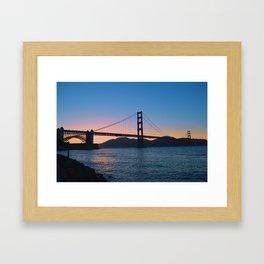 Golden Gate bridge. California. Framed Art Print