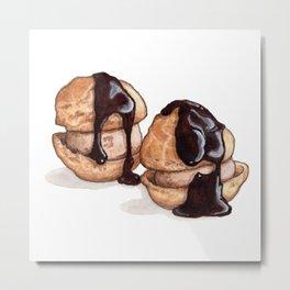 Desserts: Profiteroles Metal Print