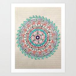 Pin Wheel Mandala Art Print