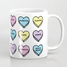 Baesic Candy Hearts - Mexican Food Coffee Mug