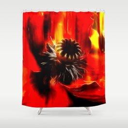 Mohnblüte Shower Curtain