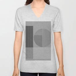 Abstract Composition 604 Unisex V-Neck