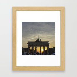 Sunset at the Brandenburg Gate, Berlin Framed Art Print