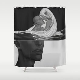 Yet each man kills the thing he loves Shower Curtain