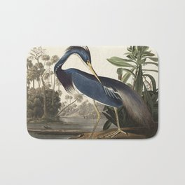Louisiana Heron from Birds of America (1827) by John James Audubon, etched by William Home Lizars Bath Mat
