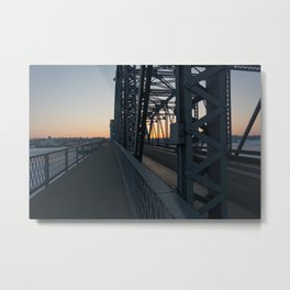 sunset on the bridge Metal Print