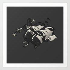 Sleeping Pillgrims Art Print