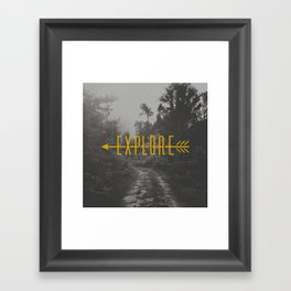 Explore (Arrow) Framed Art Print