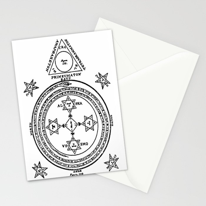 A Solomonic Magic Circle with a Triangle of Conjuration in the East  Stationery Cards by ouijawedge