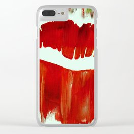 Holiday Kiss Clear iPhone Case
