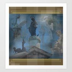 Rome Statues 2 Art Print
