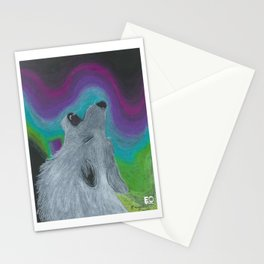 Howling at the Lights Stationery Cards