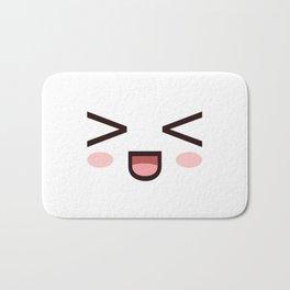 HAHAHA! Laughing Kawaii Face XD! Bath Mat