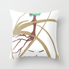 """Mr. """"Tree in hat!"""" Throw Pillow"""