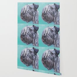 The Cesky Terrier dog portrait from an original painting by L.A.Shepard Wallpaper