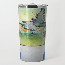Pigeon Race Travel Mug