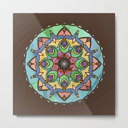 Silk and Sand Mandala Metal Print