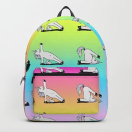 Unicorn Yoga Pattern Rainbow Backpack