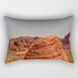 Red Valley Rectangular Pillow