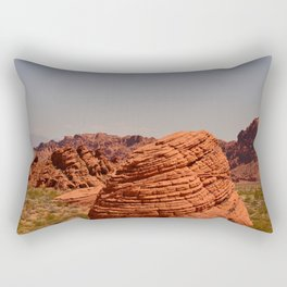 Red Valley Rectangular Pillow