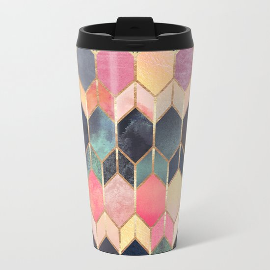 Stained Glass 3 Metal Travel Mug