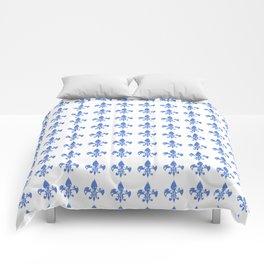 French Blue fleur di li Comforters