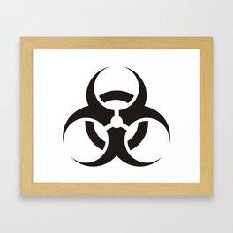 White Biologic Hazard Warning signal Framed Art Print