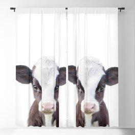 Baby Cow Portrait Blackout Curtain