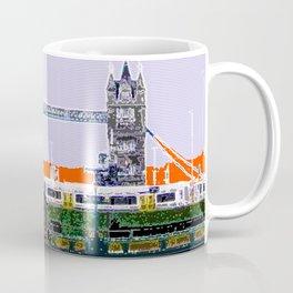 London Tower bridge & tube pop artwok, England photogrphy, mind the gap Coffee Mug
