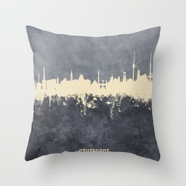 Stuttgart Germany Skyline Throw Pillow